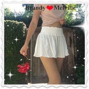 New Brandy ❤ Melville white Jolene Shorts NEW